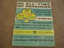 20 All Time Hit Paraders Big Pops Vocal Song Album Songbook
