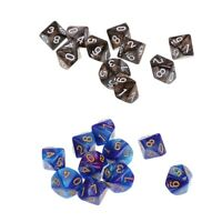 20pcs D10 10 Sided Dices Polyhedral Dice for MTG DND Party Roleplaying Game