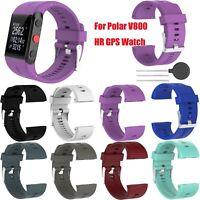 Silicona Reloje Banda Deporte Correa Pulsera para Polar V800 HR GPS Watch New