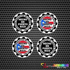 4x HECHO EN PUERTO RICO MADE IN PUERTO RICO VINYL CAR STICKERS DECAL