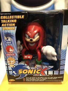 Sonic the Hedgehog X Knuckles Boxed Collectible Talking Action Figure RARE