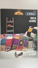 Patons Pattern Book #8013 Inca Home - 3 Designs to Knit & Crochet in Inca