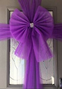Christmas Concepts® 9Mx40cm Deep Purple Fabric Door Bow-Make Your Own(TL112-BOW)