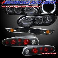 98-02 CHEVROLET CAMARO BLACK HALO HEADLIGHTS + BUMPER LIGHTS + TAIL LIGHTS COMBO