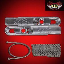 "2007 GSXR 1000 Swingarm Extensions 12"" Long, Chain, & Brake Line, Swing arm"