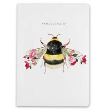 A5 Notebook Bumble Bee Wildlife Botanical Luxury Lined Notebook by Lola Designs