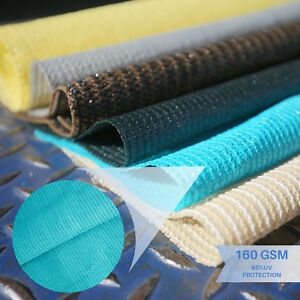 Turquoise 6'-8' Tall Fabric Roll Shade Cloth Fence Screen Outdoor Privacy Mesh