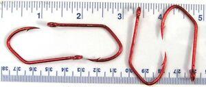 50 (packs/25) Matzuo 150062 Red Sickle Open Eye Siwash Fishing Hooks size 4/0