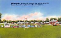 Savannah GA~Howard Johnson's Motor Lodge~Blue Ribbon Court~Motel~1950s Glossy