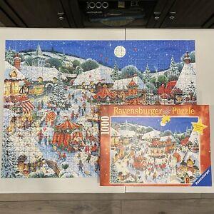 Ravensburger CHRISTMAS FAIR 1000 Piece Jigsaw Puzzle 100% COMPLETE 152728