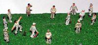 Cricket Game People A76p PAINTED N Gauge Scale Langley Models People Figures