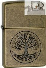 Zippo 29149 tree life antique brass Lighter with PIPE INSERT PL