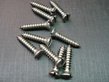 """10 pcs #8 x 1"""" with #6 slotted oval head stainless steel trim screws Mopar"""