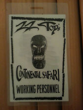 Zz Top Working Personnel Pass