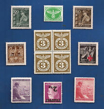 Authentic NAZI GERMANY Third 3rd Reich WW2 Eagle Swastika Hitler stamps MNH