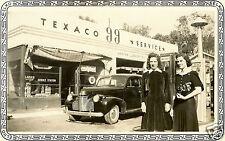 "#2 TEXACO""99""SERVICE GAS STATION SKY/FIRE CHIEF PUMPS MARFAK  5x7  PHOTO 2 gals"