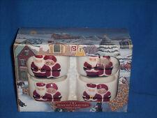 PUBLIX Season's Greeters Napkin Ring set/4 Santa & Mrs Claus Christmas