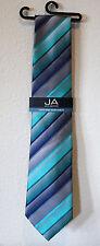 John Ashford Grid Stripe Pack men's Necktie Tie Aqua FN00100275
