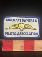 Aviation Airplane AIRCRAFT OWNERS & PILOTS ASSOCIATION Patch 03WE