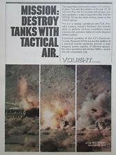 3-6/1980 PUB LTV VOUGHT A-7 GE 30 MM GUN POD ANTI TANK FLIR ECM ORIGINAL AD
