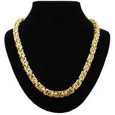 14mm x 60cm Collar Bizantino COLLAR MACIZO CADENA Big Acero Oro