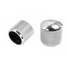 Chrome Metal Electric Guitar Bass Tone Volume Speed Control Knobs Dome Silver