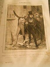 """HD 352 DAUMIER 1843 the musicians of Paris chorus. """"Le soleil eastern si"""