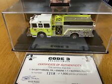 MINT CODE 3 - Gettysburg, PA Engine 1-1 • Sutphen Pumper - Limited Edition - 09'