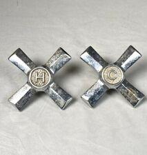 Vintage Hot & Cold Faucet Handles ~ 3 1/4