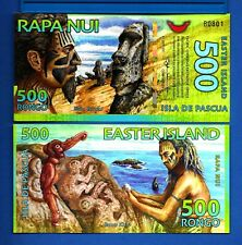 Easter Island 500 Rongo 2011 Polymer Uncirculated Banknote