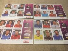 4 Different Panini UEFA Euro Cup Stickers FIFA Sun Sheets 2012 - VGC