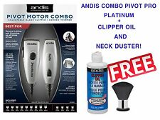 ANDIS SPEED MASTER CLIPPER+PIVOT PRO MOTOR COMBO 23965 W/FREE OIL&NECK DUSTER