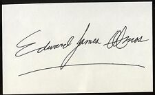 Edward James Olmos Signed Index Card Signature Vintage Autographed AUTO