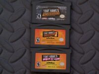 Lot Nintendo Game Boy Advance GBA Games Tony Hawk's Underground 1&2 + Sk8Land