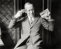 Vintage 1920 Prohibition Photo - No More Beer - Comedian Ernest Hare Empty Mug