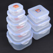 8Pcs Plastic Food Storage Containers Airtight Tupperware Clip Top Lid 5 Kit+3Kit