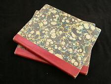 Mathematics Exercises c.1830 Pair of Uniformly Bound Manuscript Books - Surrey