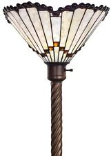 Antique Tiffany-style White Jewel Torchiere Lamp Tiffany Lamps Torch Floor 72""