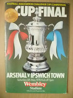 1978 FA CUP FINAL- ARSENAL v IPSWICH TOWN