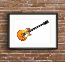 Jimmy Page's 1959 Gibson Les Paul #1 - POSTER PRINT A1 size