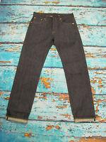 LEVIS  LVC VINTAGE  1947 501 RIGID DARK BLUE REDLINE SELVEDGE JEANS 30W / 34L
