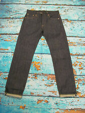 Levi's Vintage LVC 1966 501 Jeans Rigid Raw Denim Red Line Selvedge 34W 34L