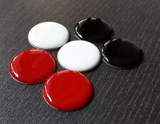 6x NFC Tag Sticker mit MIFARE Classic® Chip - Epoxy Aufkleber rot/schw/weiß - 1k