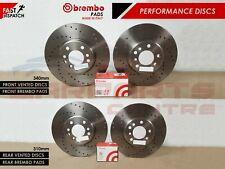 PERFORMANCE DRILLED BRAKE DISCS BREMBO PADS S3 / GOLF MK7 R / LEON CUPRA 280 RS