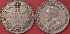 Fine 1934 Canada Silver 25 Cents
