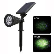 Solar Spotlights 4 LED 200LM Adjustable Lamp Garden Outdoor Flood Spot Lighting
