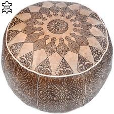 Leder Sitzkissen Marokkanische Orientalische  Fußkissen Pouf Hocker Kissen LSR12