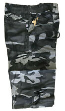 BOYS CARGO SHORTS CAMOUFLAGE PRINT 5 POCKET ARMY COMBAT SUMMER 4-12 YEARS NEW