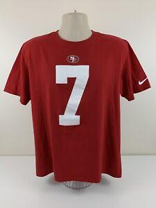 Nike San Francisco 49ers Colin Kaepernick Jersey T Shirt Mens Size L Large EUC