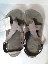 NWT Lizard Trilogy Stone Button Leather Strap Thong Sandals Mens 8.5-9